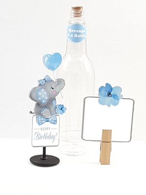 Custom All-Occasion Stand-up Elephant Message in a Bottle - TheLastWordBish.com