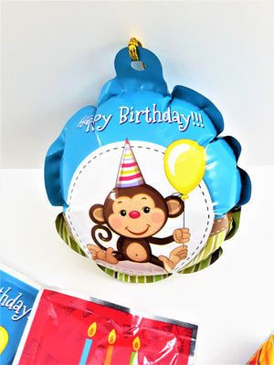 birthday self-inflating balloon for 3D greeting card gift