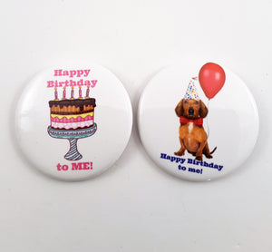 Happy Birthday to Me! button