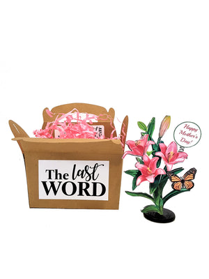 Flower Bouquet Personalized 3D Mother's Day Card - The Last Word Bish