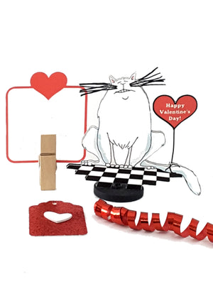 Valentine's Day Stand Up Greeting Card with Cheshire Grinning Cat - TheLastWordBish.com