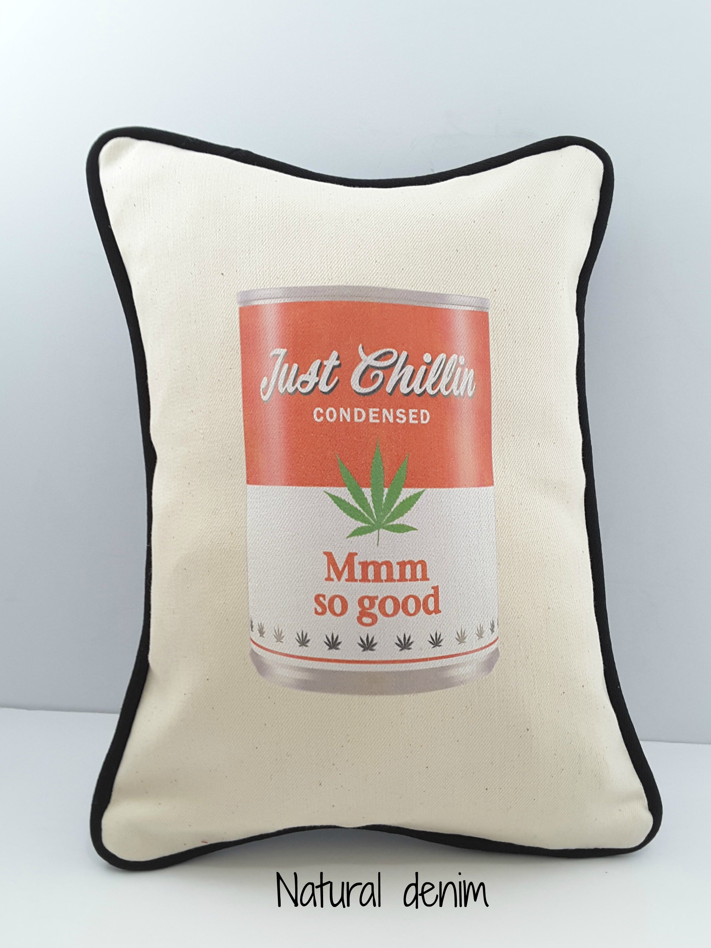 Funny Soup Can Denim Pillow Cover - The Last Word Bish