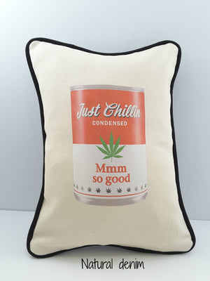 Alternative Soup Can Pillow Cover in Denim - Free Shipping!