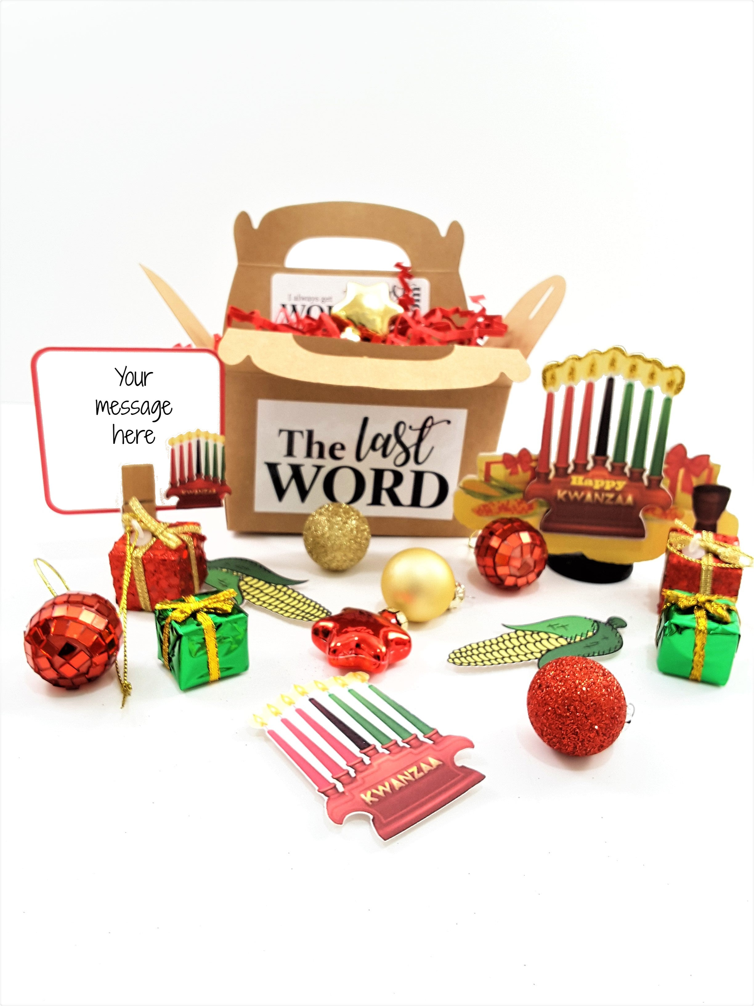 HAPPY KWANZAA 3D GREETING CARD GIFT - includes goodies! - TheLastWordBish.com
