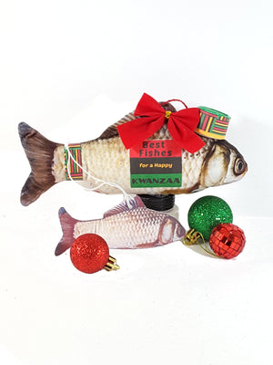 Best Wishes with Fishes for a Happy Kwanzaa Greeting Card, Gift, Ornament, Keepsake - The Last Word Bish