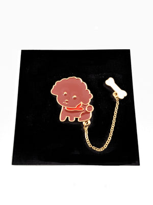 Dog with a Bone Enamel Pin - Free Shipping! - TheLastWordBish.com