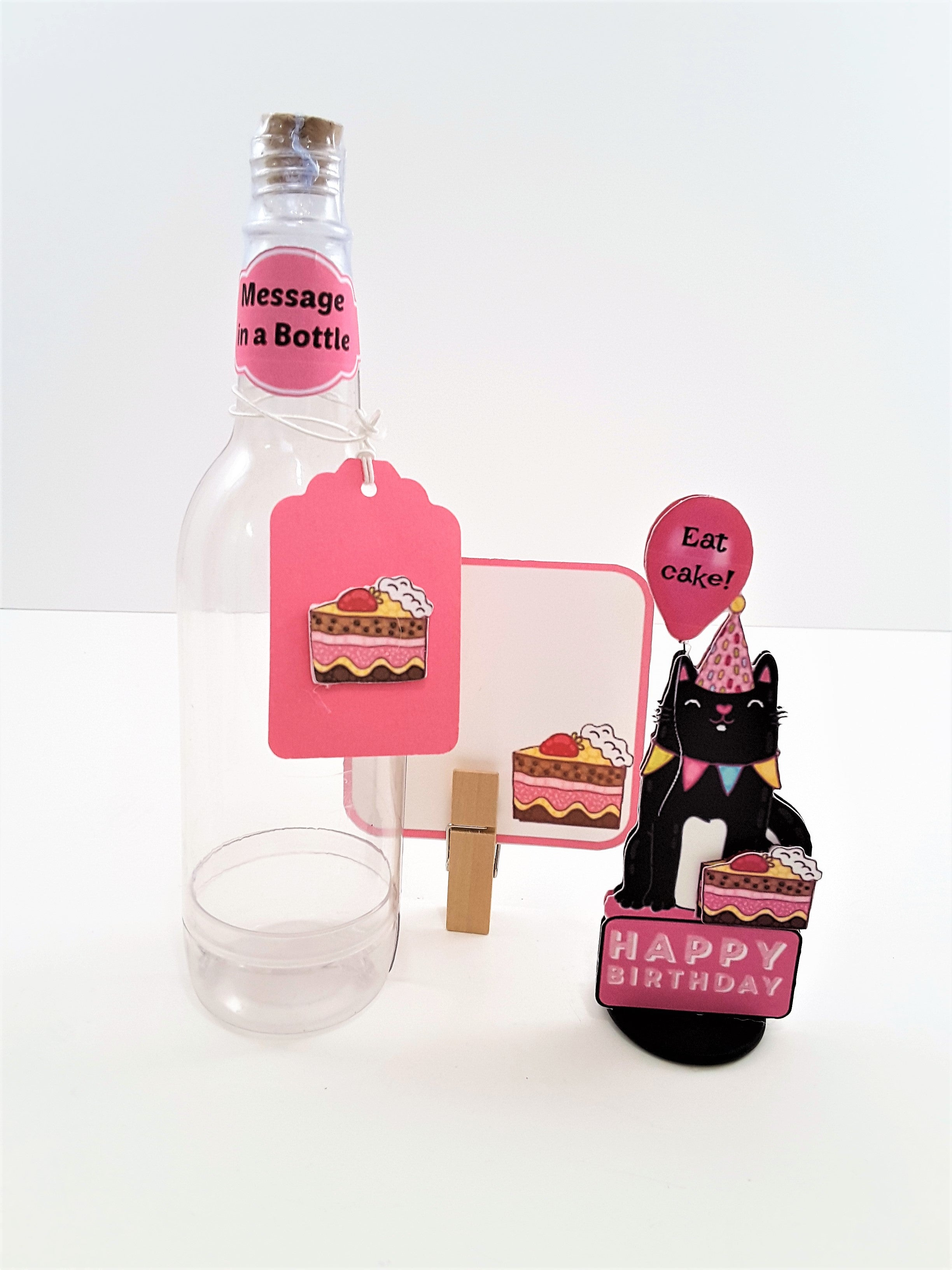 Message in a Bottle Personalized 3D Happy Birthday Card - TheLastWordBish.com