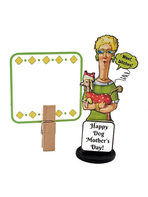 Message in a Bottle Happy Dog Mother's Day Personalized 3D Card - TheLastWordBish.com