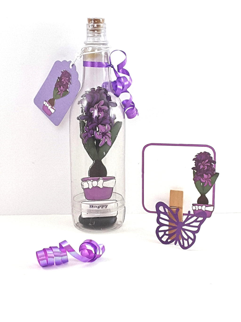 Nowruz 3D Greeting Card Message in a Bottle Hyacinth - TheLastWordBish.com