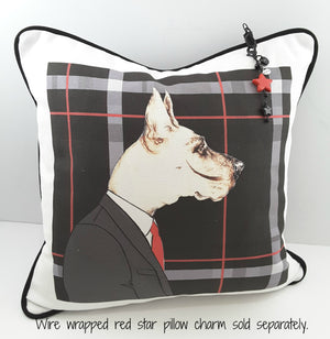 Mr. Dog Denim Pillow Cover - Free Shipping! - TheLastWordBish.com