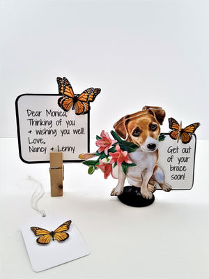 3D All-Occasion Card with Puppy & Flowers - TheLastWordBish.com