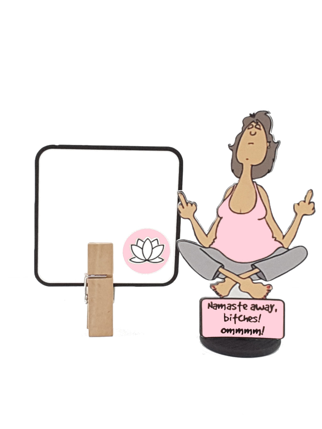 Yoga Lady Double-Handed Middle Finger Salute 3D All-Occasion Card - The Last Word Bish