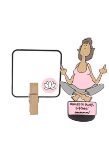 Namaste Away, Bitches! 3D Yoga Lady All-occasion greeting card