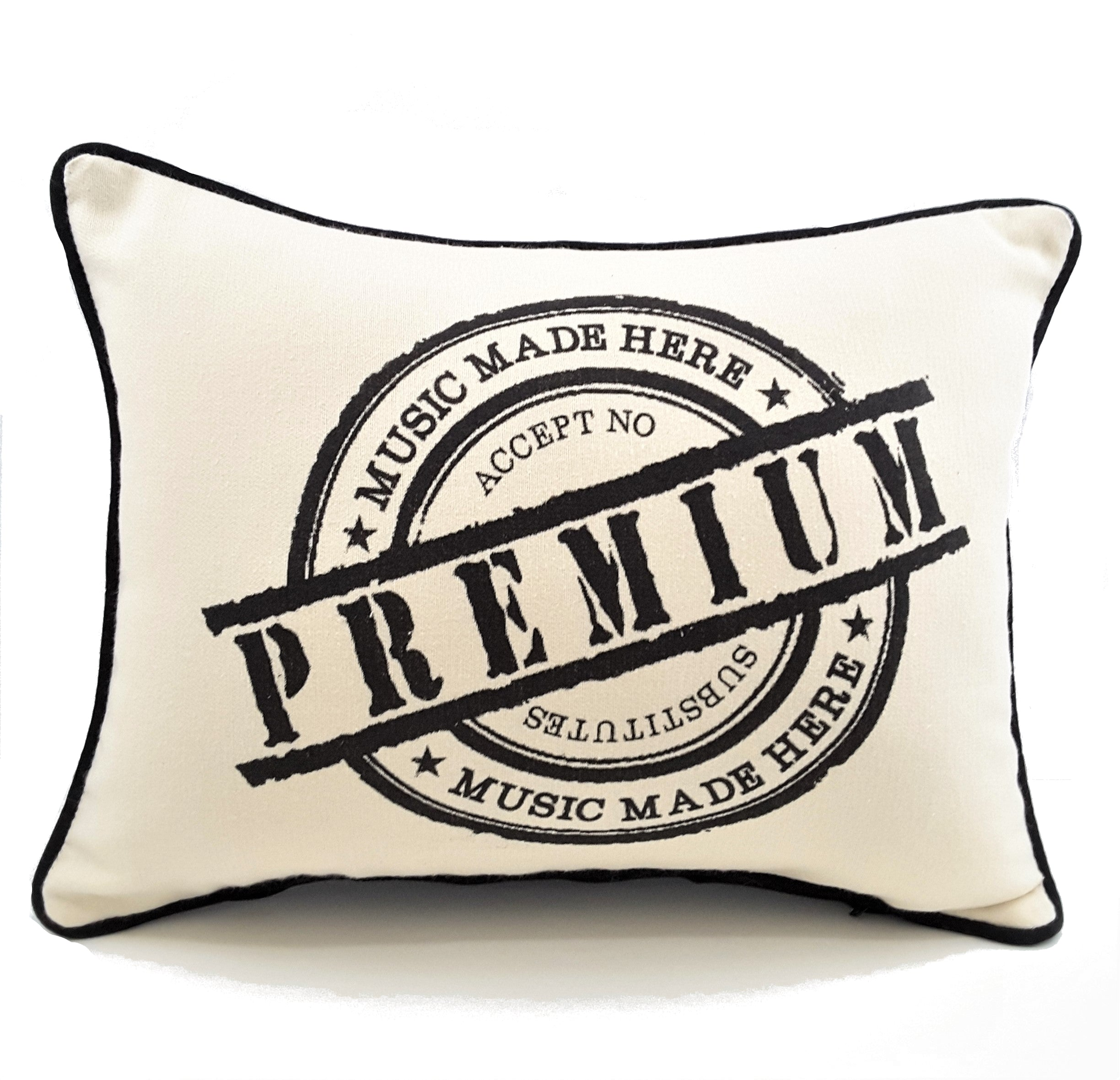 Premium Music Made Here Denim Pillow Cover