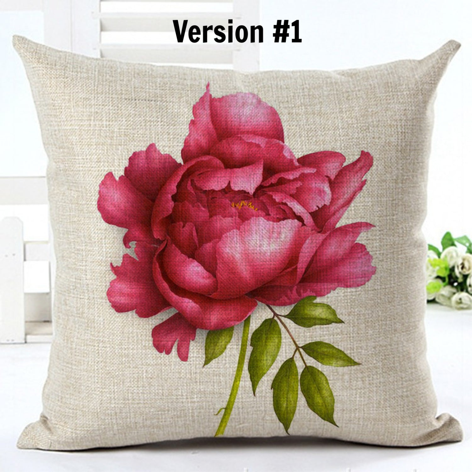 Beautiful Peony Pillow Cover - TheLastWordBish.com