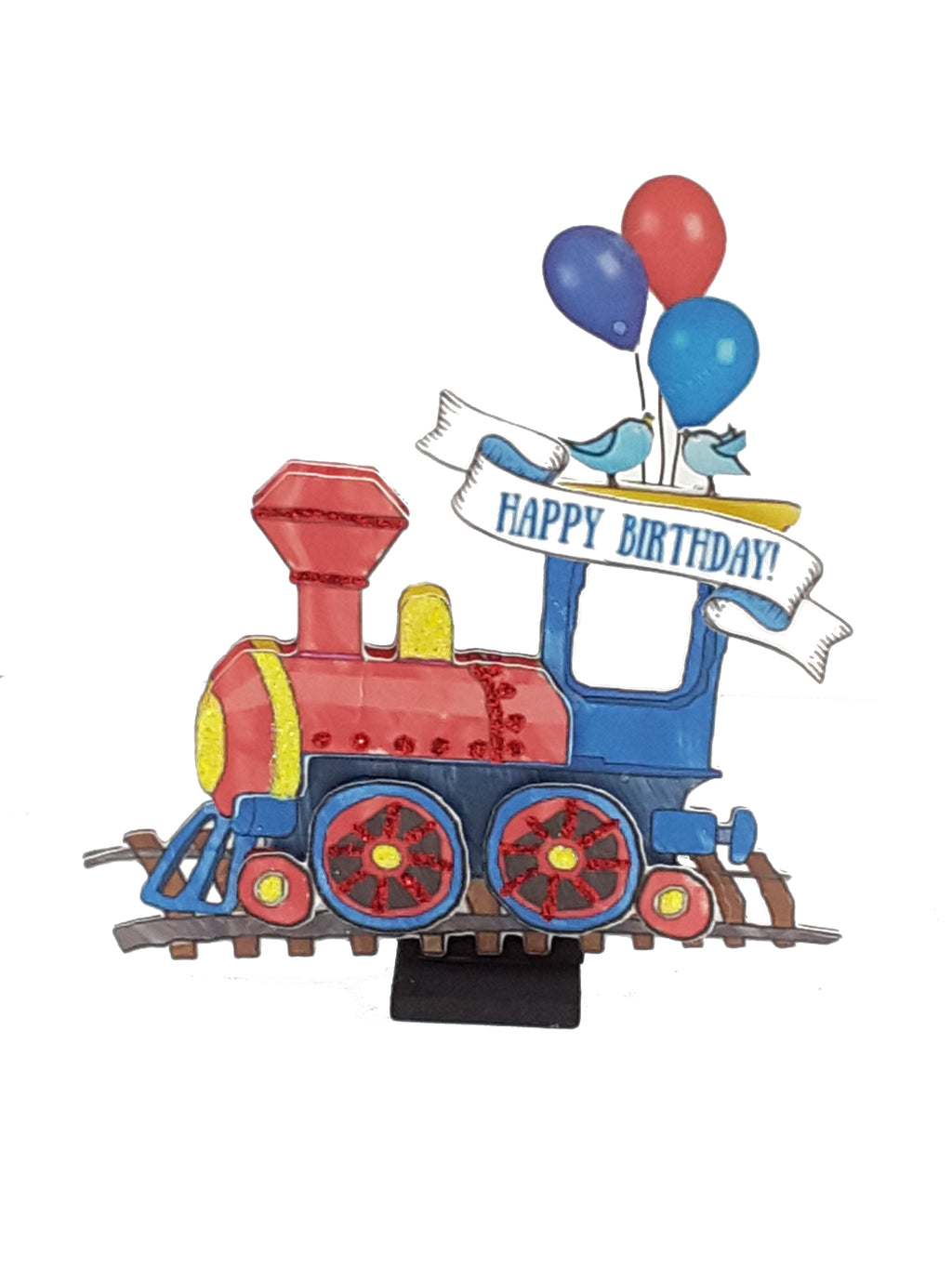 3D Happy Birthday Card with Toy Train - The Last Word Bish
