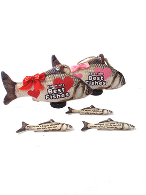 "Funny Valentines Best Fishes Greeting ""Card"" Stuffed Fish - TheLastWordBish.com"