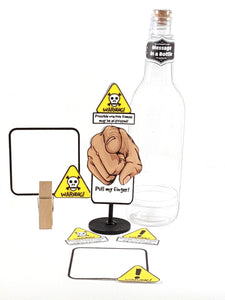 Funny Personalized Pull My Finger Stand Up All Occasion Greeting Card Message in a Bottle - TheLastWordBish.com