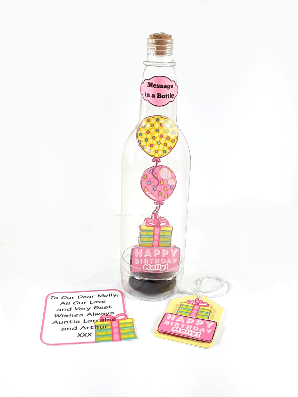 Happy Birthday Balloons Message in a Bottle