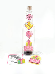 Happy Birthday Balloons Message in a Bottle - TheLastWordBish.com