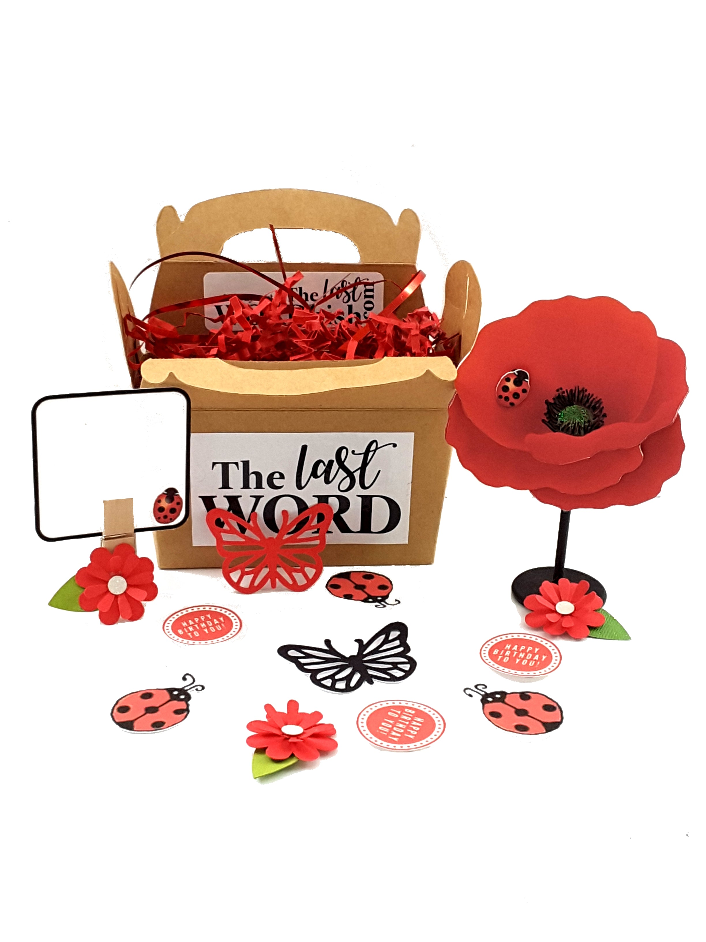 Personalized Red Poppy Stand-Up All-Occasion Greeting Card