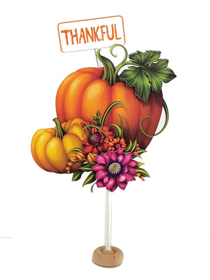 Thanksgiving Pumpkin Decoration, Holiday Centerpiece, Autumn Table Decor