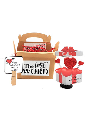 VALENTINE'S DAY GREETING CARD WITH 3D BOX OF HEARTS