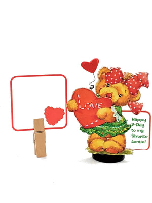 VALENTINE'S DAY  3D GREETING CARD - LITTLE GIRL TEDDY BEAR - TheLastWordBish.com