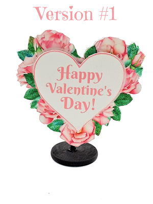 3D VALENTINE'S DAY ROSE BORDERED HEART GREETING CARD