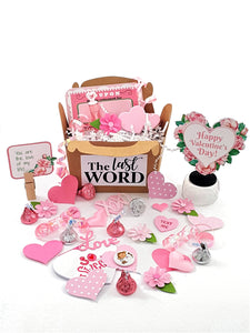 VALENTINE'S DAY 3D GREETING CARD - PINK ROSE BORDERED HEART - TheLastWordBish.com