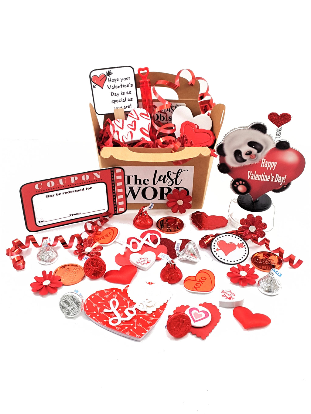 3D Panda Bear Valentine's Day Card - The Last Word Bish
