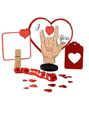 Valentine's Day Stand Up Greeting Card Gift - Sign Language I Love You - with goodies! - The Last Word Bish