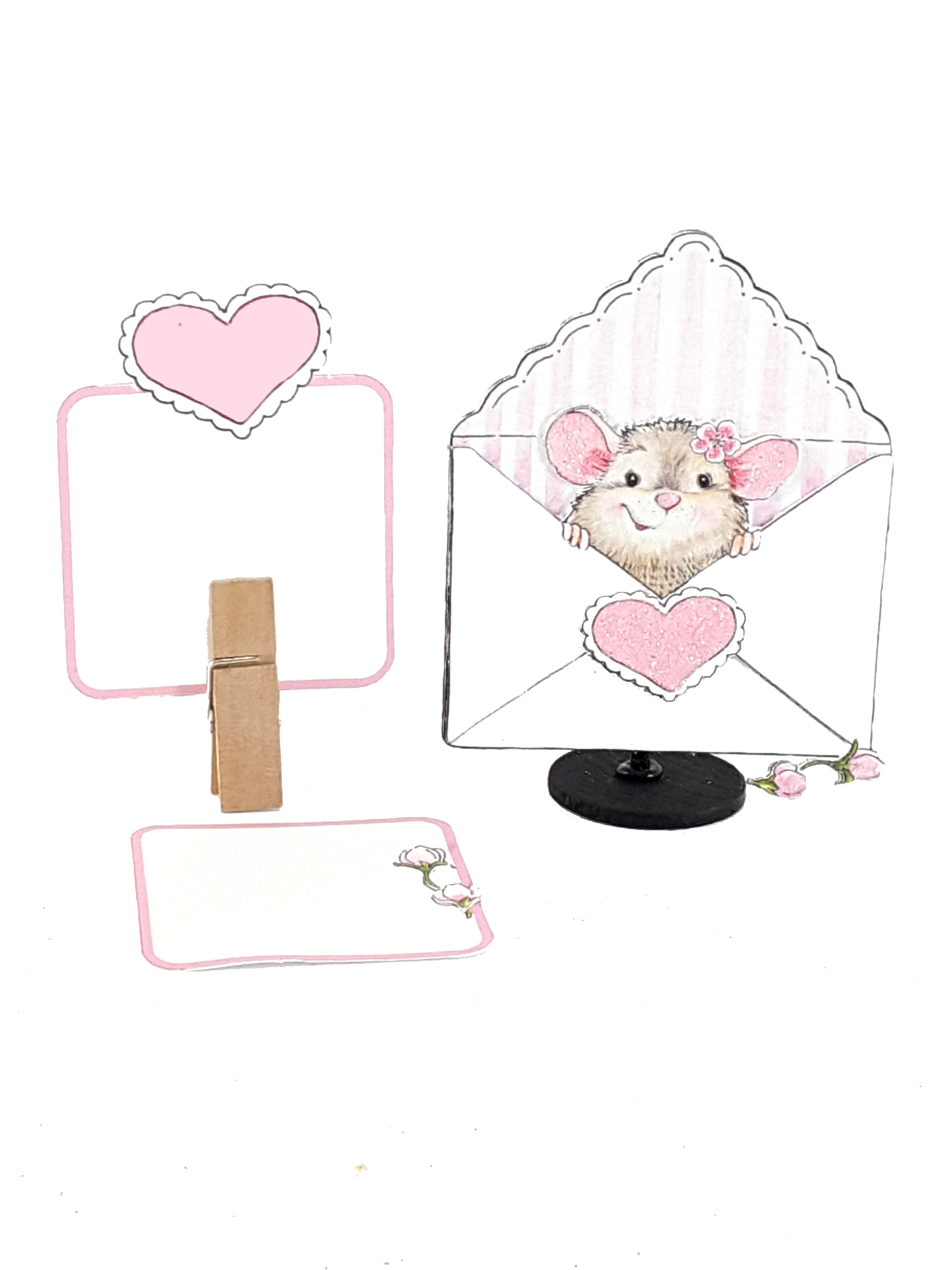 Adorable Valentine's Day Pop Up Greeting Card with Mouse in an Envelope - The Last Word Bish