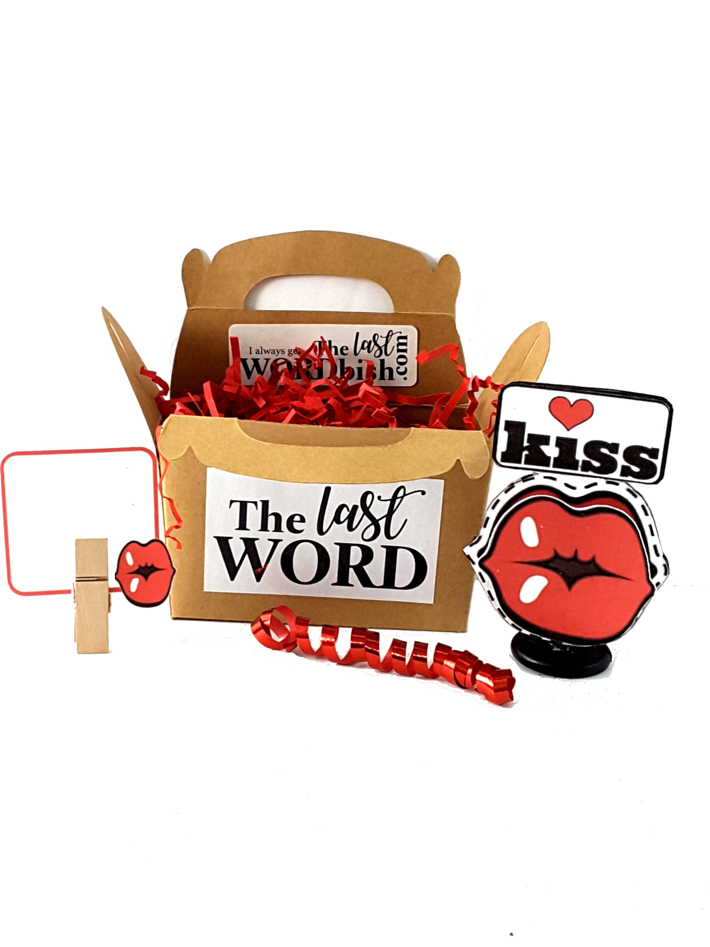 Valentine's Day Stand Up Kiss Greeting Card - with goodies! - TheLastWordBish.com