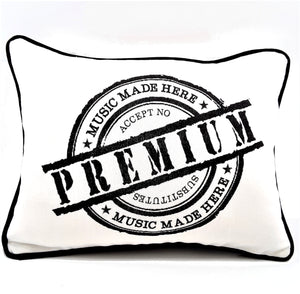 Premium Music Made Here Denim Pillow Cover - The Last Word Bish