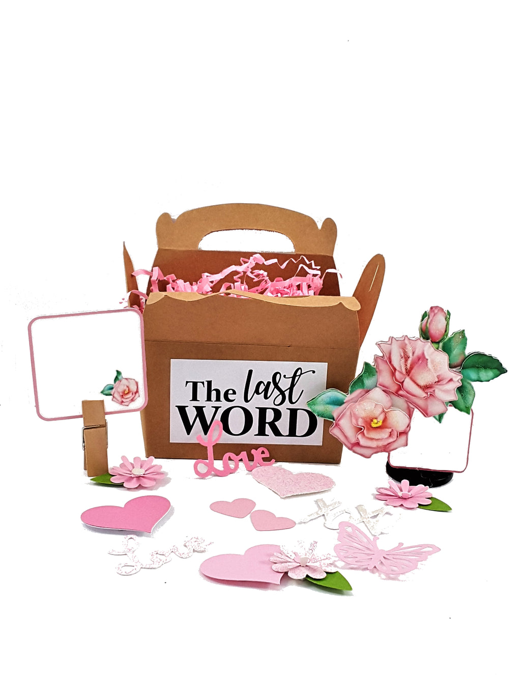 Pink Rose 3D All-Occasion Card - The Last Word Bish