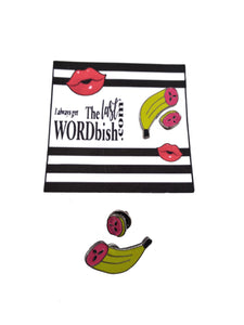 BANANA 2-PIECE ENAMEL PIN SET