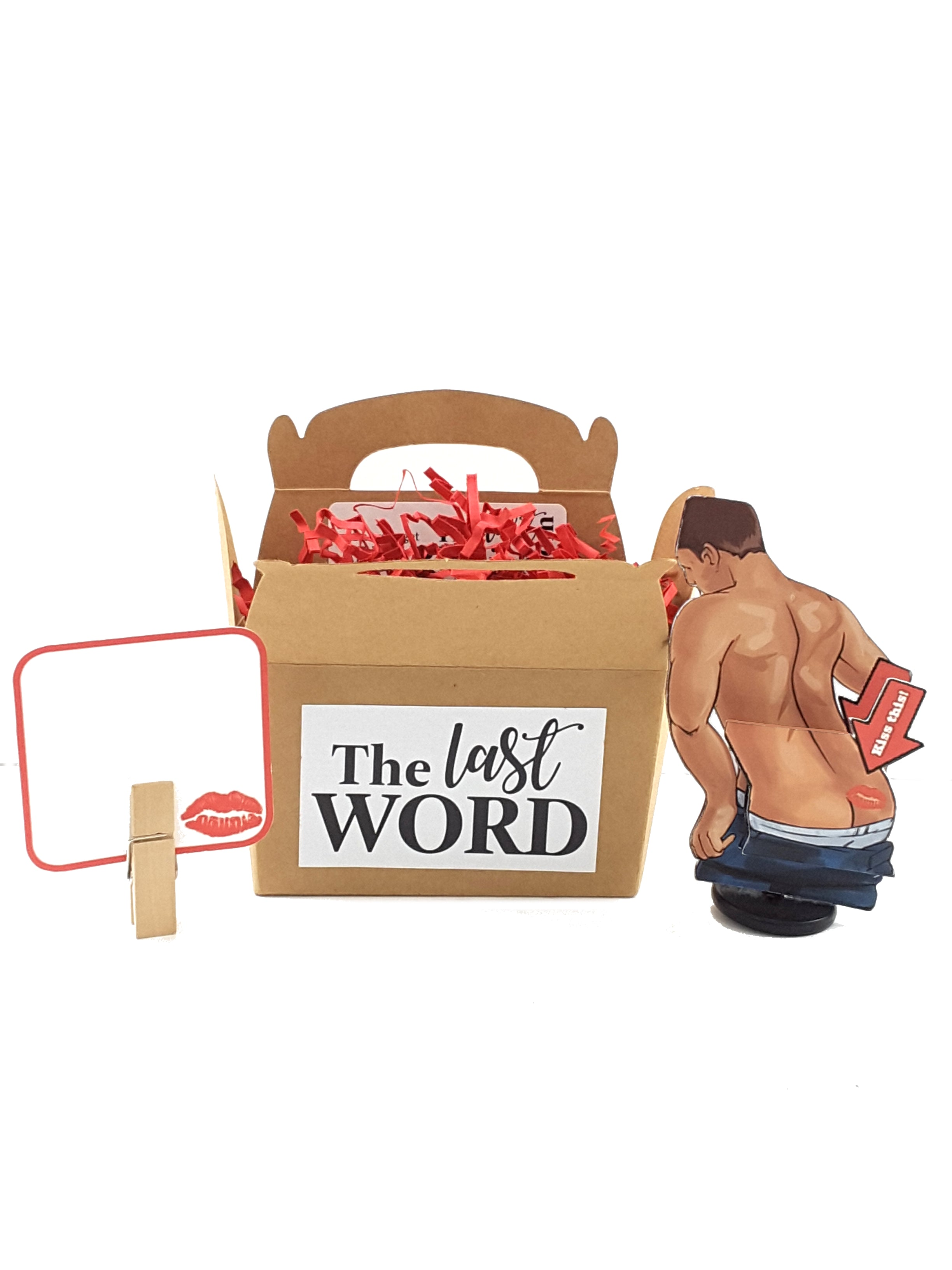 Kiss This Hunky Man's Booty 3D All-Occasion Card - 2 versions - TheLastWordBish.com