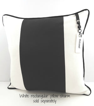 Striking Pillow Cover with Black & White Stripes - TheLastWordBish.com