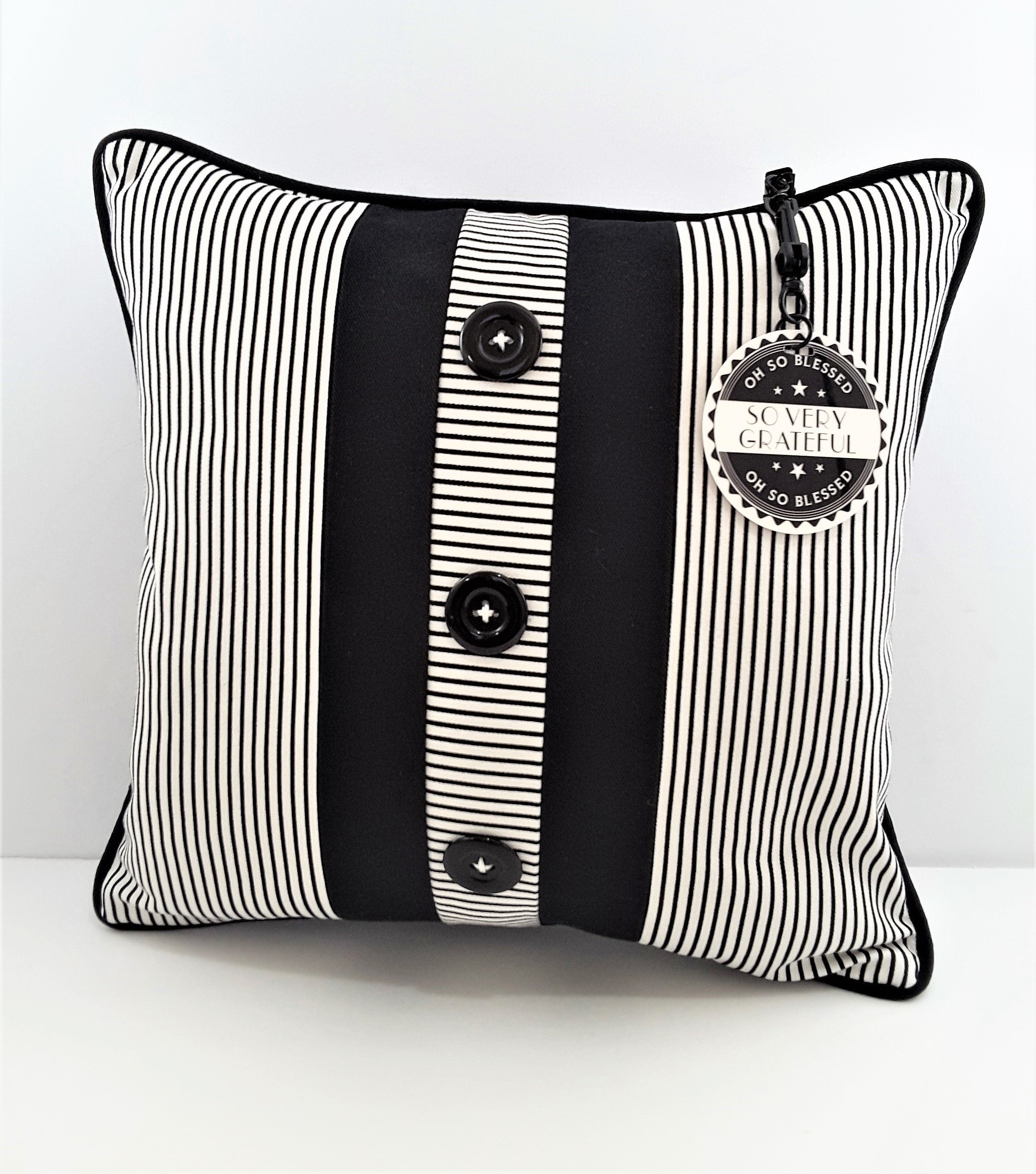 "3"" Black/white Circular Pillow, Purse, Backpack, Daily Planner Tags or Keychains - TheLastWordBish.com"