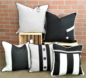 BLACK & WHITE PILLOW COLLECTION BY ALEXANNDRA CARINGTON