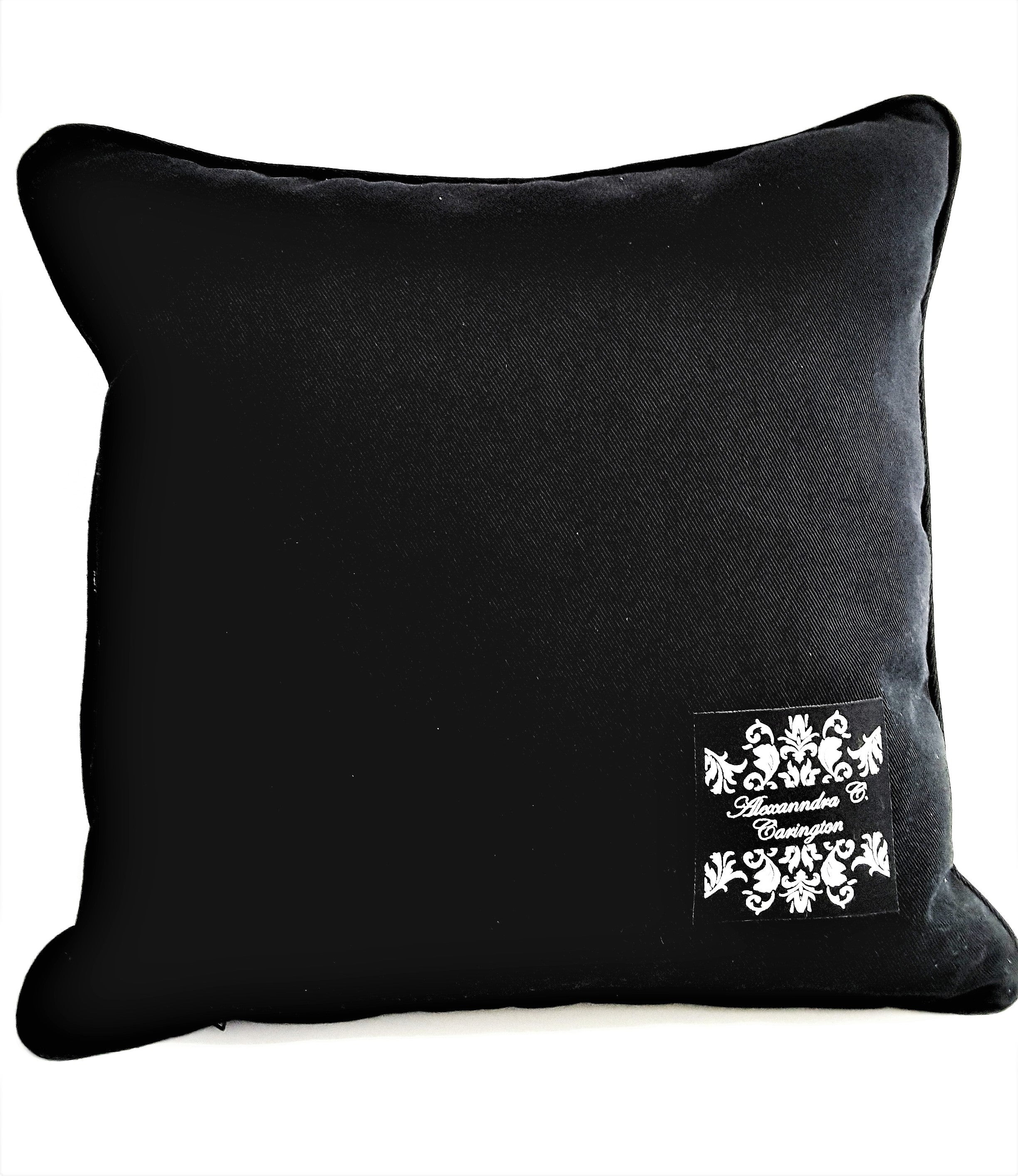 Detailed 3-Button Black Stripe Denim Pillow Cover - TheLastWordBish.com