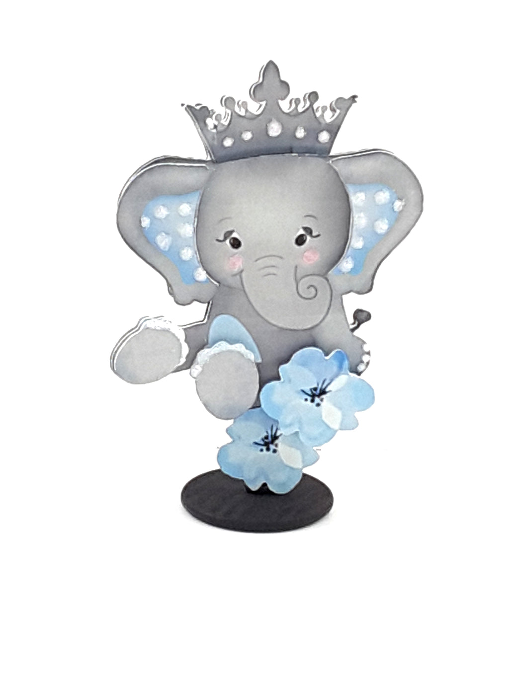 Adorable, Custom Elephant Stand-Up All-Occasion Card and Keepsake - TheLastWordBish.com