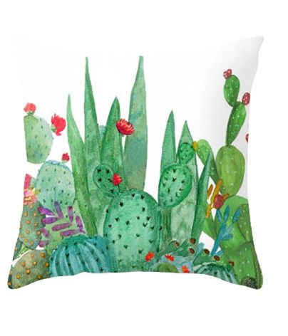Watercolor Cactus and Succulent Pillow Cover - TheLastWordBish.com