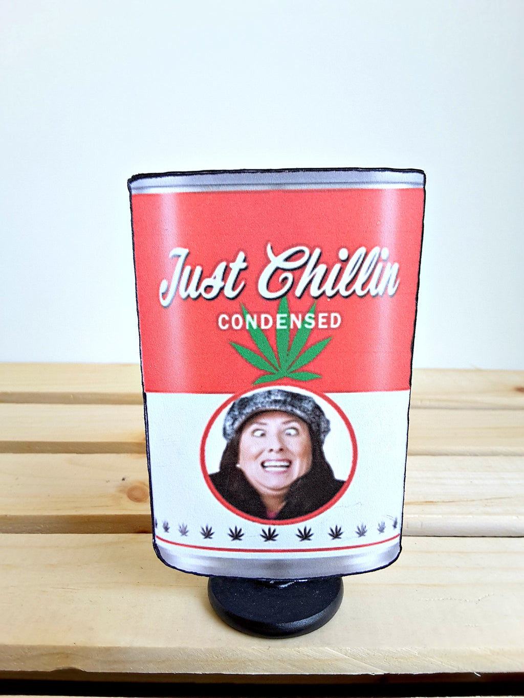 "Your Face or Theirs on a Can of ""Just Chillin"" Custom 3D All-Occasion Card - TheLastWordBish.com"