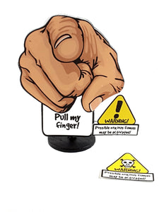 Pull My Finger Stand-up All-occasion Greeting Card, Possible noxious fumes may be activated - TheLastWordBish.com