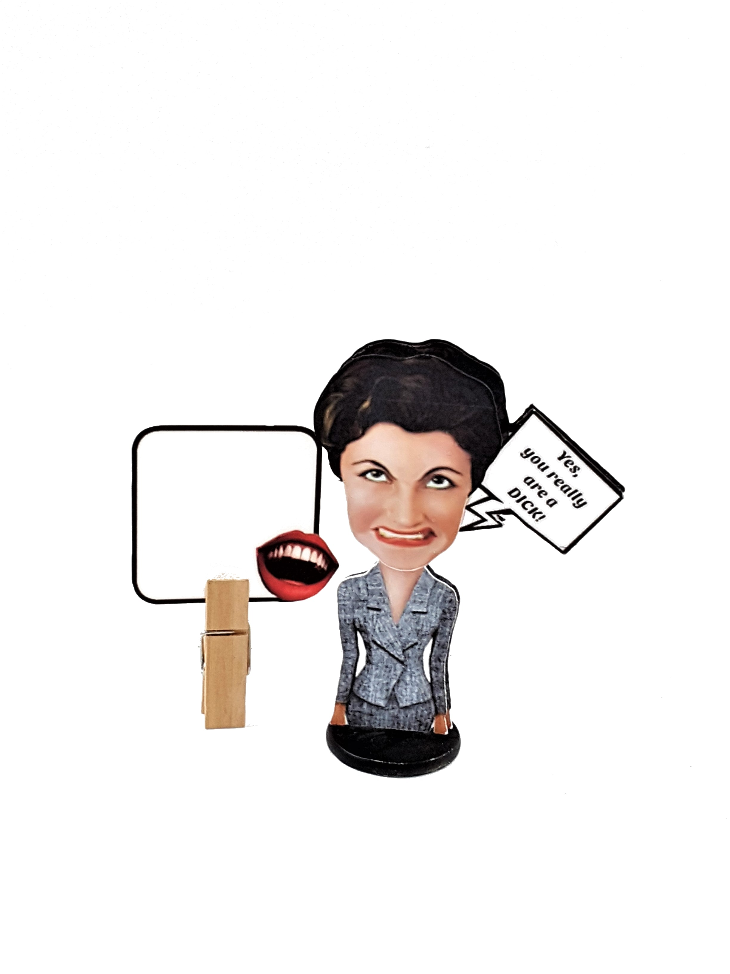 funny 3D business woman all-occasion greeting card