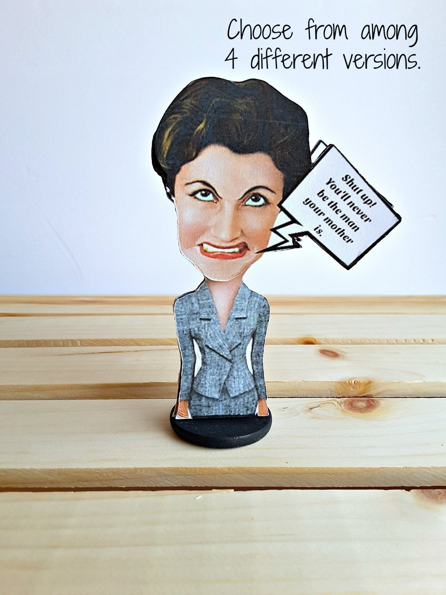 funny 3-D crazy business lady greeting card gift