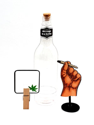 Personalized Vintage Hand Holding a Cigarette - Message in a Bottle - TheLastWordBish.com