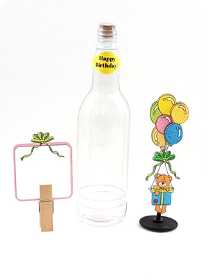 All-Occasion Personalized Message in a Bottle with 3D Teddy Bear - TheLastWordBish.com